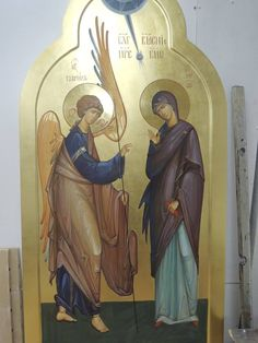 L'image contient peut-être : 2 personnes Royal Doors, Byzantine Icons, Madonna And Child, Icon Collection, Catholic Art, Art Icon, Religious Icons, Orthodox Icons, Virgin Mary