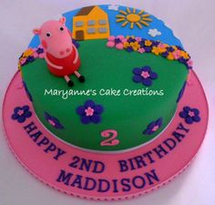 Peppa Pig Birthday Cake by Maryanne's Cake Creations, Tamworth, New South Wales, Australia. You'll find this Cake Appreciation Society Member in our Directory at www.cakeappreciationsociety.com