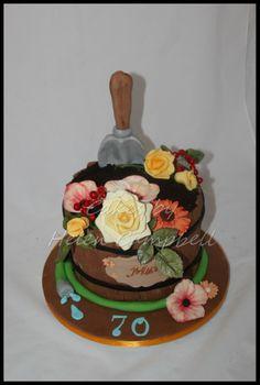 Flower Barrel Cake. Find me on facebook at Cakes by Helen Campbell