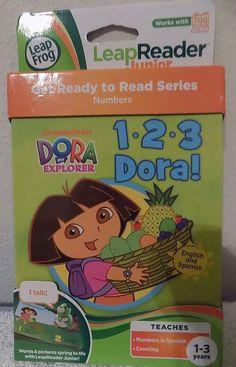 New LeapFrog LeapReader Junior Book 1, 2, 3 Dora works with Tag Junior spanish #LeapFrog