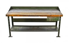 american vintage industrial workbench