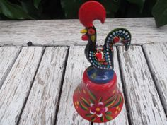 handpainted  BELL lucky rooster of Barcelos, Portugal