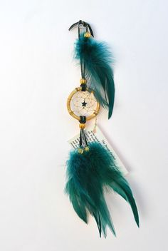 Hey, I found this really awesome Etsy listing at https://www.etsy.com/listing/171510597/hunter-green-dreamcatcher-with-a-jade