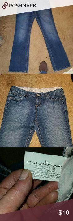 Nice pair of dark denim jeans Boot cut LEI dark denim jeans. In great condition. lei Pants Boot Cut & Flare