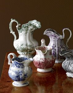 Transferware---Developed in the in response to costly hand-painted wares from China, the new transfer-printing process meant that pottery patterns could be reproduced exactly, repeatedly, and more cheaply than ever before.