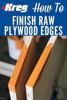 How To Make Edges Look Great on Painted Plywood Projects Learn how to smooth out rough edges on plywood quickly and easily to prepare them for a great-looking paint finish. All you need are a putty knife, some sandpaper, and ordinary spackle. Beginner Woodworking Projects, Learn Woodworking, Woodworking Techniques, Popular Woodworking, Woodworking Crafts, Woodworking Plans, Woodworking Furniture, Furniture Plans, Woodworking Videos