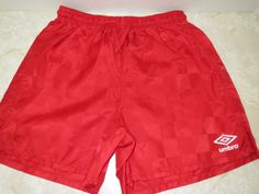 Umbro Youth Rio Check Shorts Red Sz S Small Soccer Boy Girl Unisex Sports #Umbro #Everyday