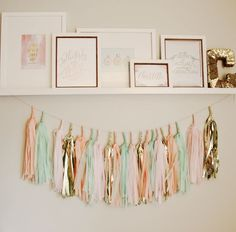 coral, mint and gold nursery on a budget | Hellobee