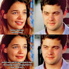 """Dawson's Creek """"All Good Things. Come to an End"""" - Joey and Pacey Dawsons Creek Quotes, Dawsons Creek Pacey, Chuck Bass, Dowson Creek, Joey Dawson's Creek, Kevin Williamson, Joey Potter, Pacey Witter, American Teen"""