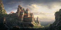 concept fantasy castle monastery coolvibe medieval