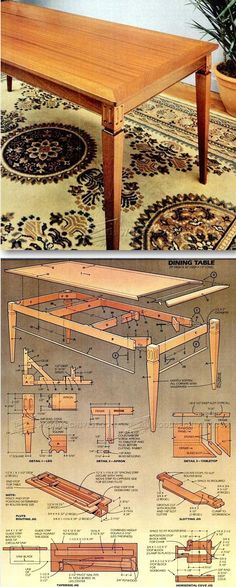 Dining Room Table Woodworking Plan Dining Room Table Plans Furniture Plans and Projects Furniture Projects, Furniture Plans, Wood Projects, Diy Furniture, Woodworking Inspiration, Woodworking Projects Diy, Woodworking Furniture, Woodworking Plans, Top Table Plan