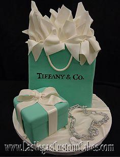 Tiffany Shopping Bag Cake