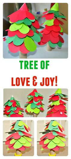 Spread more love and joy with this hearts Christmas tree craft.
