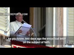 Pope explains meaning behind his first encyclical, during Angelus Prayer
