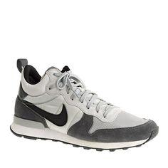 Pre-order Men's Nike® Internationalist mid sneakers : sneakers   J.Crew 100. Ash gray.