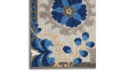 Nourison Aloha 10' Runner Blue Patio Area Rug | Ashley Furniture HomeStore Blue Patio, Plush Pattern, Indoor Outdoor Rugs, At Home Store, Power Loom, Sheath Dress, Contemporary Design, Garden Tools, Wool Rug