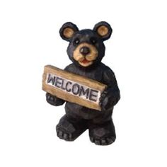 You don't have to worry about these furry friends looking for honey in your city yard. your guests with a Bear Statue Lawn Ornament, with Solar Welcome Sign. Garden Ornaments, Christmas Ornaments, Bear Statue, Bear Signs, Welcome, Lawn, Solar, Teddy Bear, Cherry