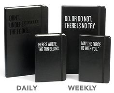 OMG Must have.  Limited Edition Star Wars Moleskine 2013 Planners