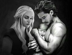 Dany Jon and BABY #gameofthrones #jonerys