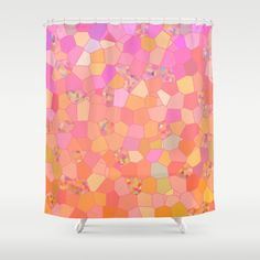 Pink Mosaic Shower Curtain   Mosaic coral by ArtfullyFeathered