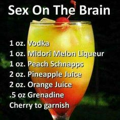Sex on the brain alcohol