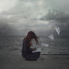 Fotograf Letters To The Dead von Amani AlShaali auf Dark Photography, Girl Photography Poses, Writing Inspiration, Character Inspiration, Fantasy Magic, Donia, Photos, Pictures, Ocean