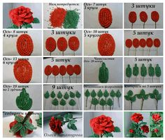 Best 12 How to Make French Beaded Rose – Step by step How to Make French Beaded Rose – Step by step – SkillOfKing. Beaded Flowers Patterns, Pony Bead Patterns, Beaded Jewelry Patterns, Crochet Flowers, Beading Patterns, Seed Bead Flowers, French Beaded Flowers, Wire Flowers, Beaded Crafts