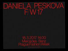 """ondrejbachor:  """"Series of the invitations for the fashion designer Daniela Peskova.  """""""