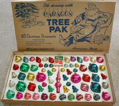 Paragon Tree Pak - Vintage Christmas ornaments