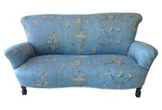 Blue French Loveseat