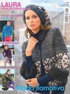 lauramoda Tapestry Crochet, Knit Crochet, Crochet Hats, Knitting Magazine, Crochet Magazine, Trends, Knit Fashion, Beautiful Crochet, Crochet Patterns