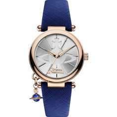 Vivienne Westwood Orb Pop Watch ($260) ❤ liked on Polyvore featuring jewelry, watches, accessories, bracelets, charm watches, vivienne westwood jewelry, vivienne westwood, vivienne westwood jewellery and vivienne westwood watches