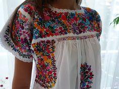 Vestido tradicional Tehuacan Vestido Sandra Mini vestido Tehuacan Bata Iyya bata San Antonio Batinha si...