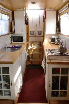 Love the end cabinets. The Kooee II Cruiser stern 57ft Narrowboat - Limekiln Chandlers