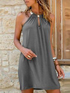 Cute Dresses, Casual Dresses, Summer Dresses, Chiffon, Mini Robes, Daily Dress, Buy Dress, Ideias Fashion, Classy Outfits