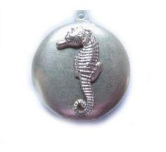 Handcrafted Seahorse locket. $15, $15