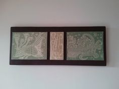 Quadro in ceramica fatto a mano su base in legno cm.62x25 decorato con ingobbio e con tecnica dello sgraffio Ceramic painting made by hand on