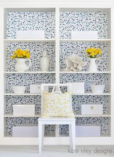 splatter bookcases kate riley designs