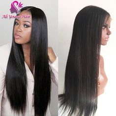 7A Glueless Full Lace Human Hair Wigs Virgin Peruvian Human Hair Lace Front Wig With Baby