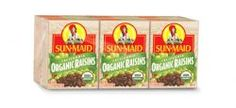 Organic raisins: a toddler's favorite snack