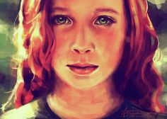Harry Potter's Mom Lily!  The lighting and soulful eyes are amazing!  Look at me... by alicexz on deviantART