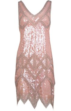 : Miss Selfridge pink sequin flapper dress (£150)