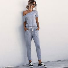 Young Fashion, Mode Online, Mom Jeans, Spring Fashion, Outfit, Sweatpants, Spring Summer, My Style, Jumpsuits