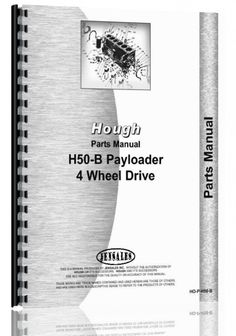 Hough H-50B Pay Loader Parts Manual