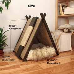 Cat house with scratcher from eco friendly materials, Cozy kitty pillow with tent, Pet furniture, Cat bed, Place for play – Fernando - Responsible Diy Cat Tent, Cat House Diy, Cat Playground, Hamster, Cat Scratcher, Cat Pillow, Cat Room, Outdoor Cats, Pet Furniture