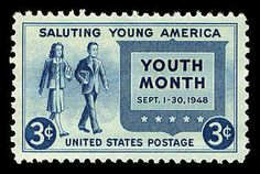 Postmaster General Jesse M. Donaldson first announced the issuance of a stamp to honor 'Youth of America' on June 24, 1948. The First Day ceremony was held at the White House and was hosted by President Harry Truman.