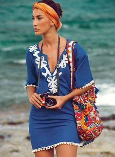 OndadeMar Swimwear, Riviera Poncho - Boho Look.