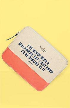 if only i had and ipad... soon maybe?  kate spade new york 'millionaire' iPad sleeve | Nordstrom