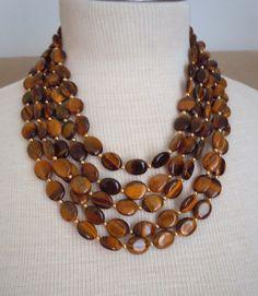 Stefana  Multi Strand Tigers Eye necklace by BouvierJewelry, $160.00  #teampinterest
