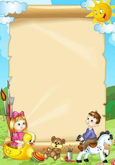 картинки для презентаций для детского сада — Яндекс.Картинки Frame Border Design, Boarder Designs, Page Borders Design, Photo Frame Design, Classroom Background, Kids Background, School Binder Covers, School Border, Kindergarten Portfolio